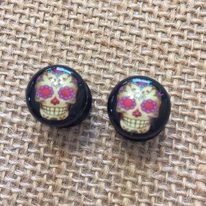 Jewelry - Skull plugs body jewelry